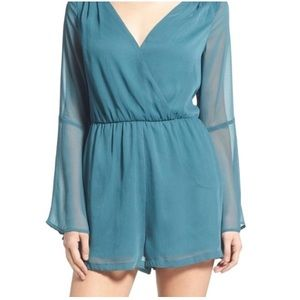 LEITH balsam bell sleeve romper size small
